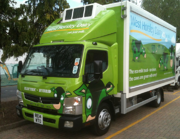 West Horsley Dairy Eco Hybrid vehicle