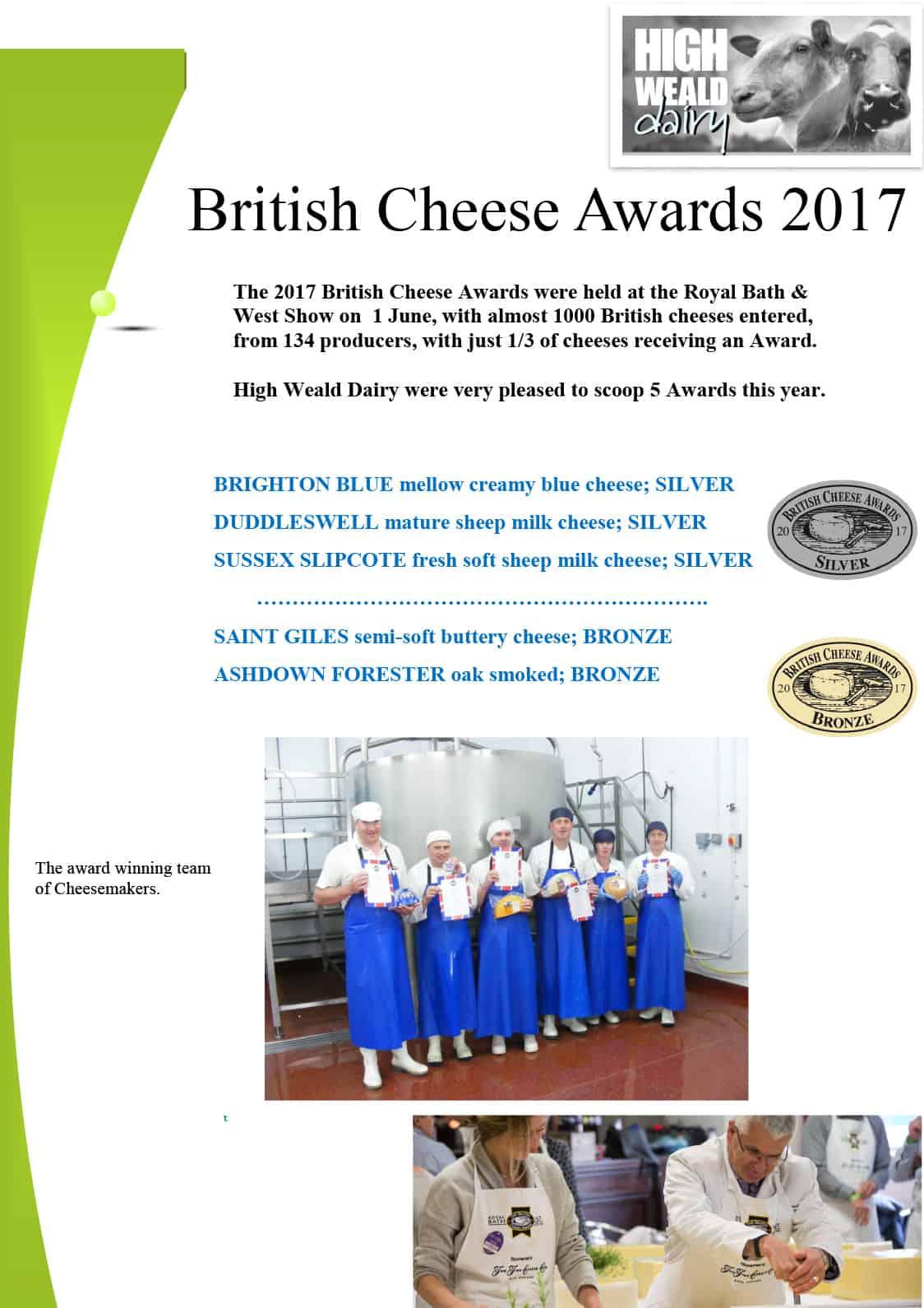 British Cheese Awards 2017